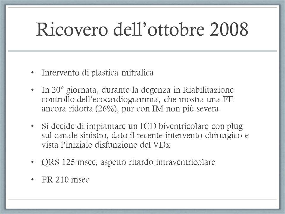 Ricovero dell'ottobre 2008