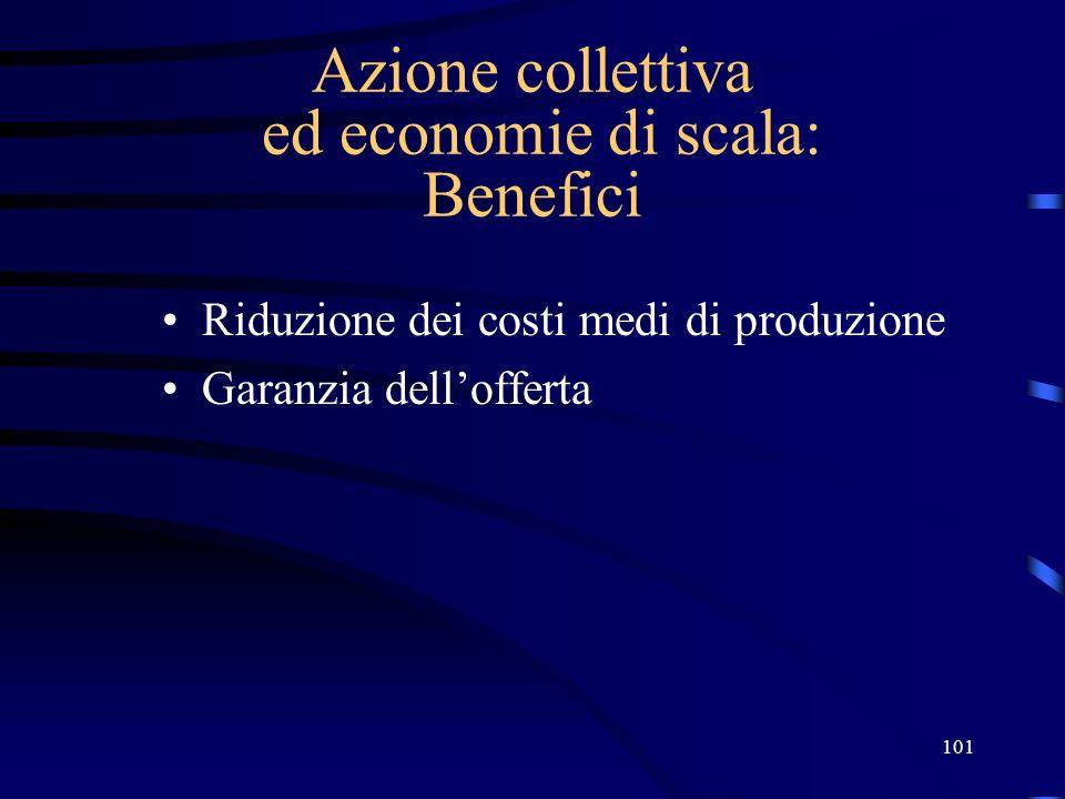 Azione collettiva ed economie di scala: Benefici