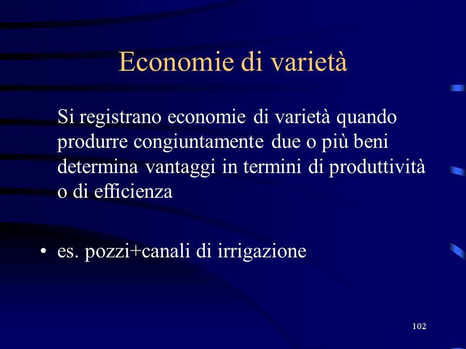 27/03/2017 Economie di varietà.