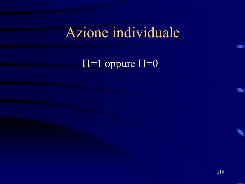 27/03/2017 Azione individuale =1 oppure =0
