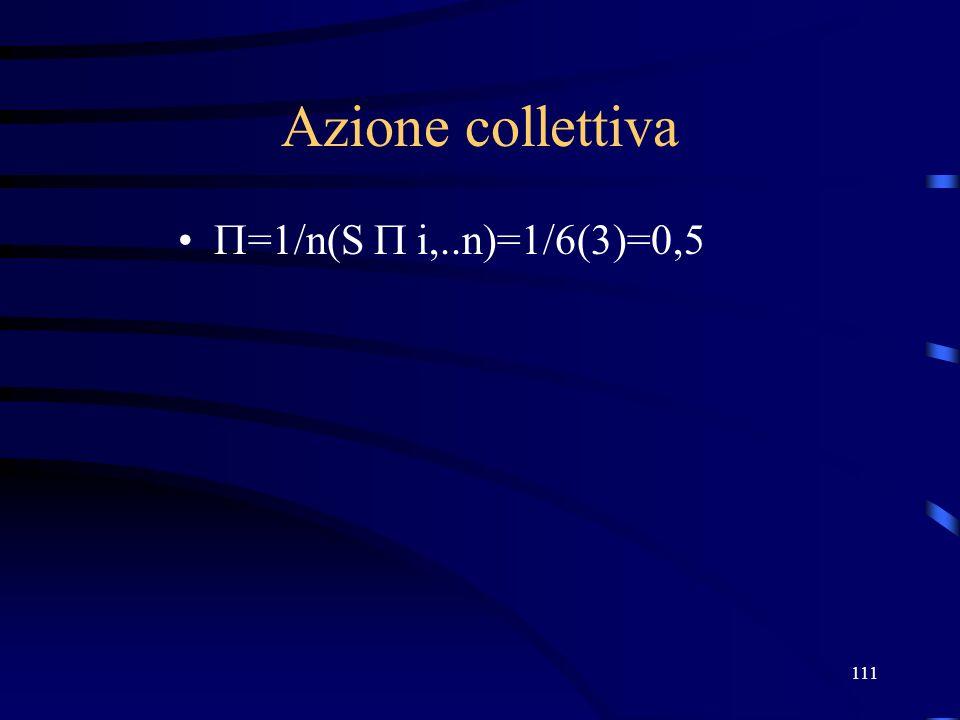 27/03/2017 Azione collettiva =1/n(S  i,..n)=1/6(3)=0,5