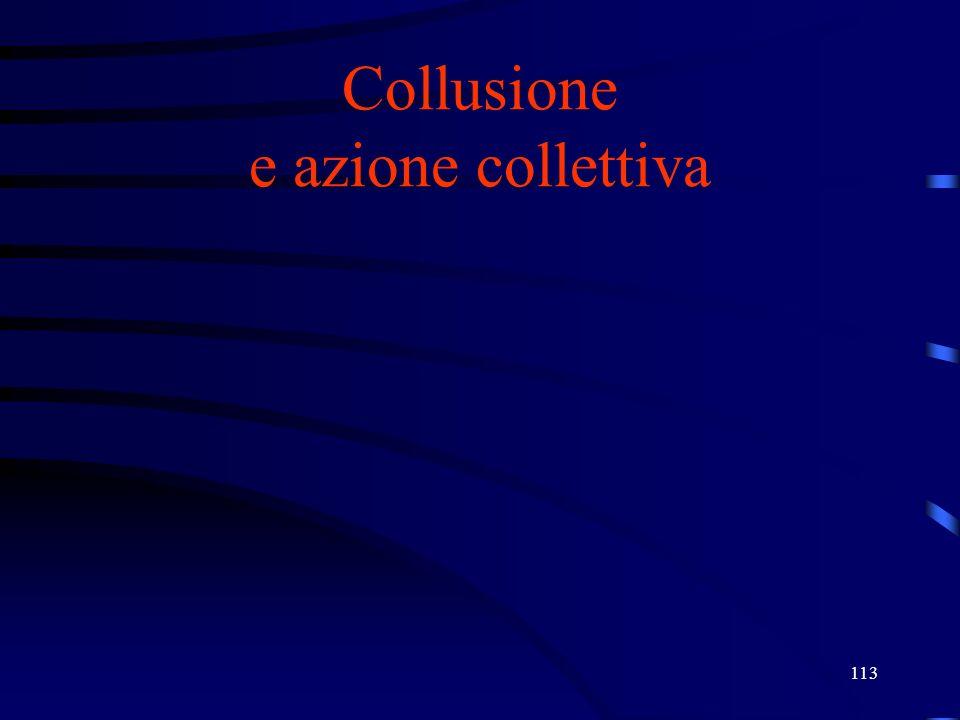 Collusione e azione collettiva