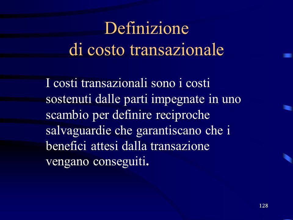 Definizione di costo transazionale