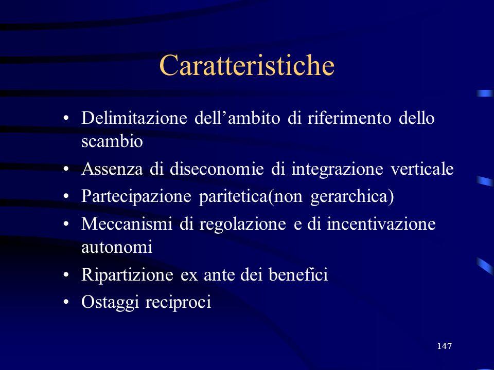 Caratteristiche Delimitazione dell'ambito di riferimento dello scambio