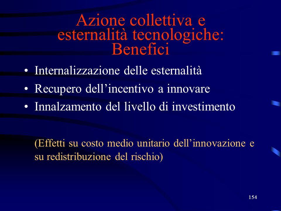 Azione collettiva e esternalità tecnologiche: Benefici
