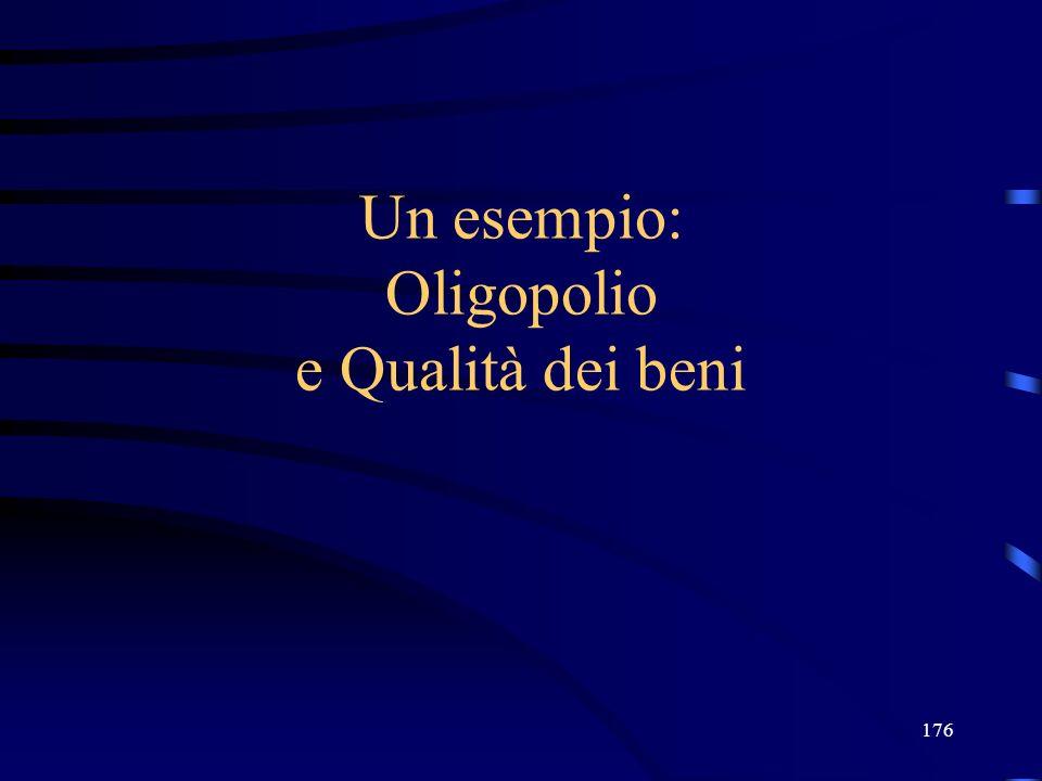 Un esempio: Oligopolio e Qualità dei beni
