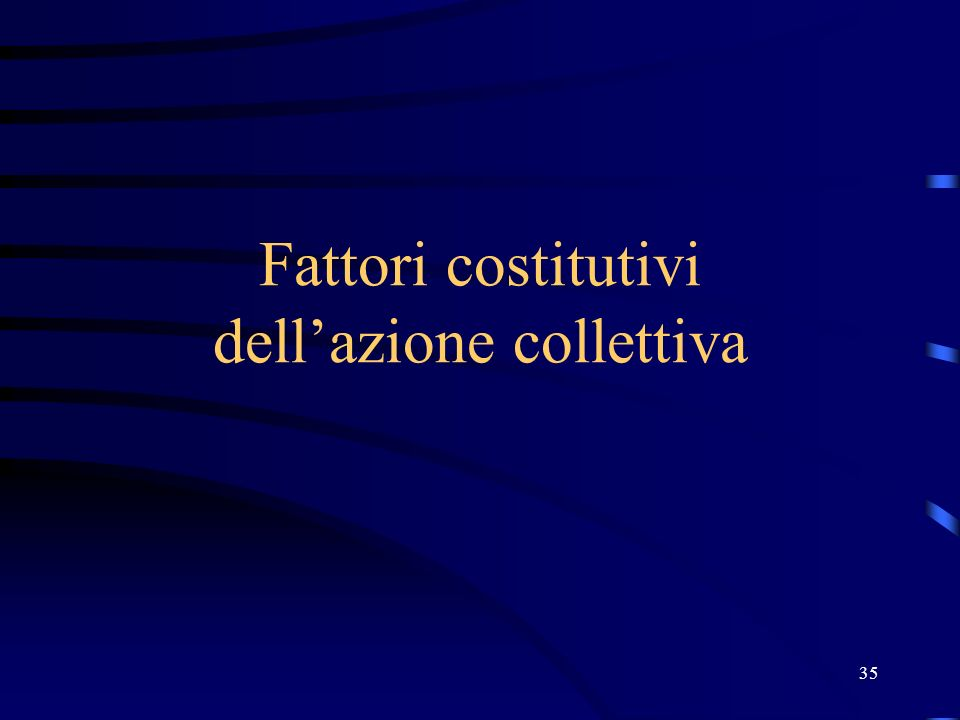 Fattori costitutivi dell'azione collettiva