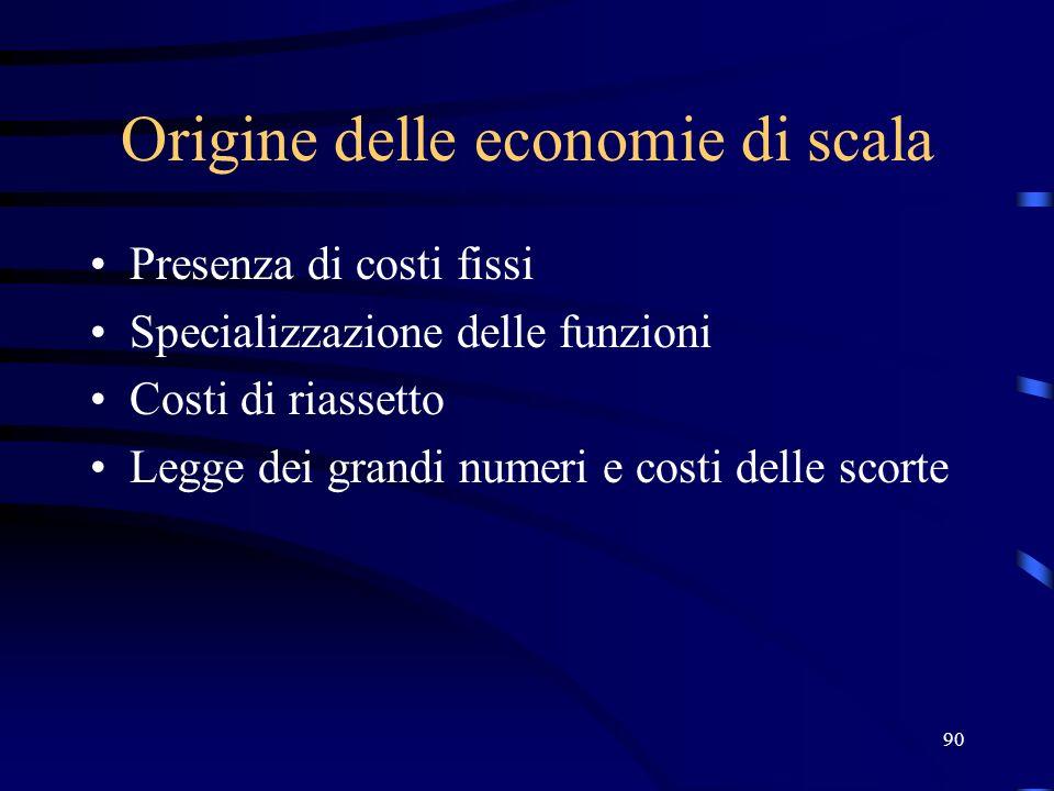 Origine delle economie di scala