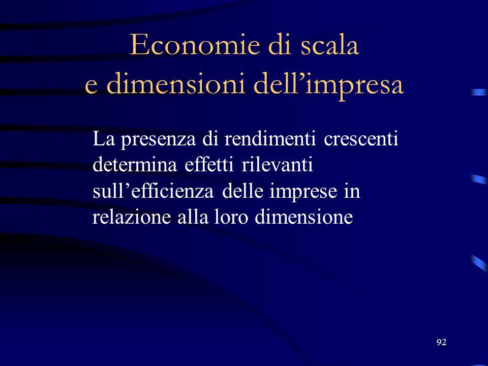 Economie di scala e dimensioni dell'impresa