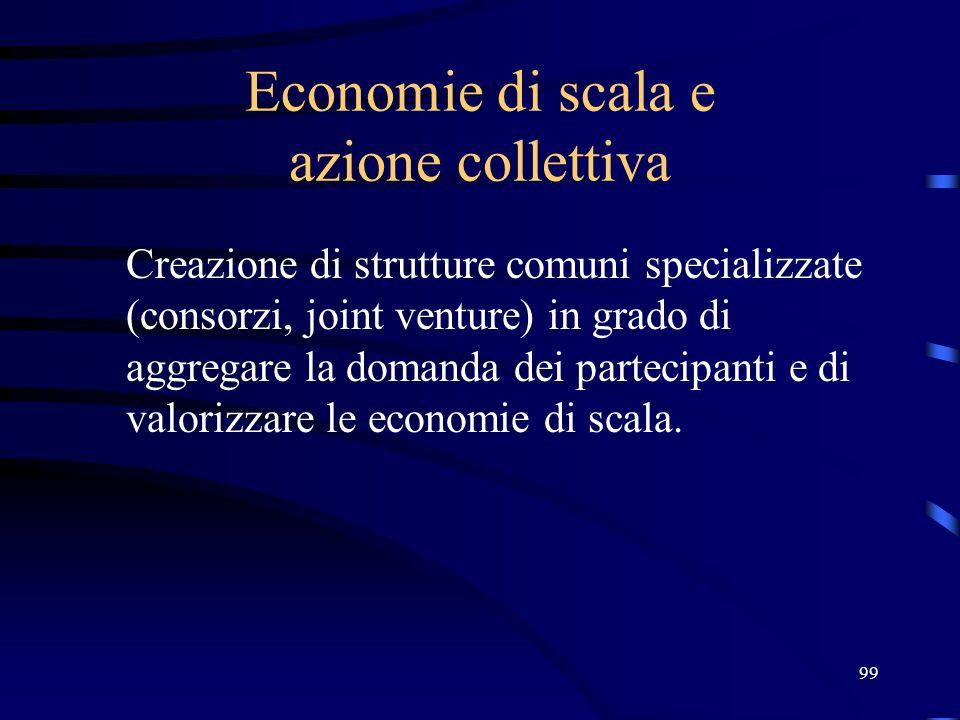 Economie di scala e azione collettiva