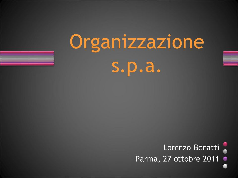 Lorenzo Benatti Parma, 27 ottobre 2011