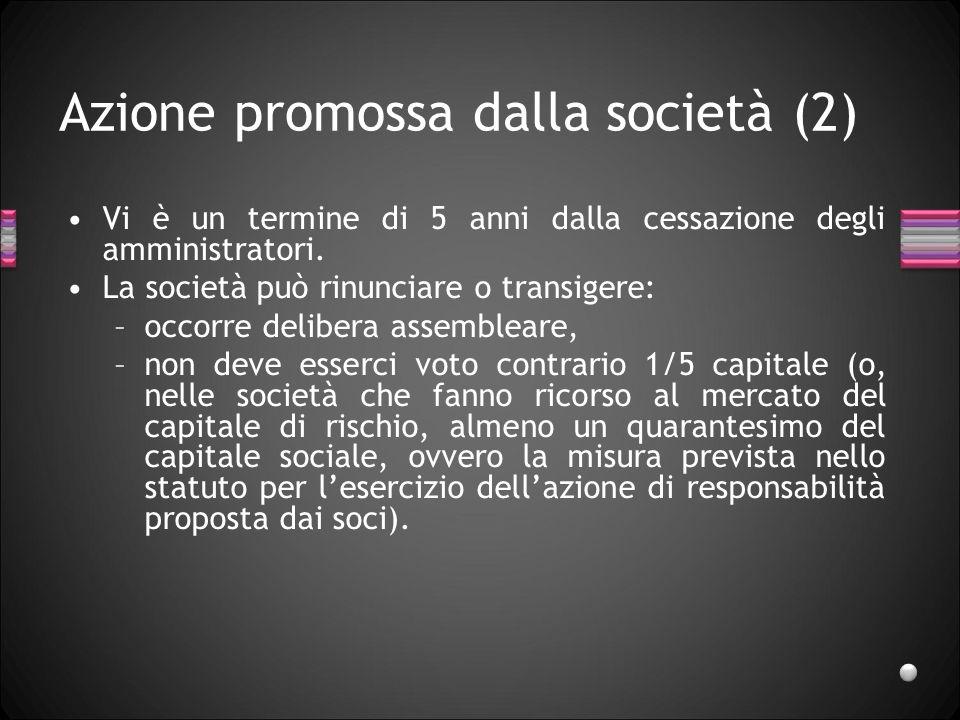Azione promossa dalla società (2)
