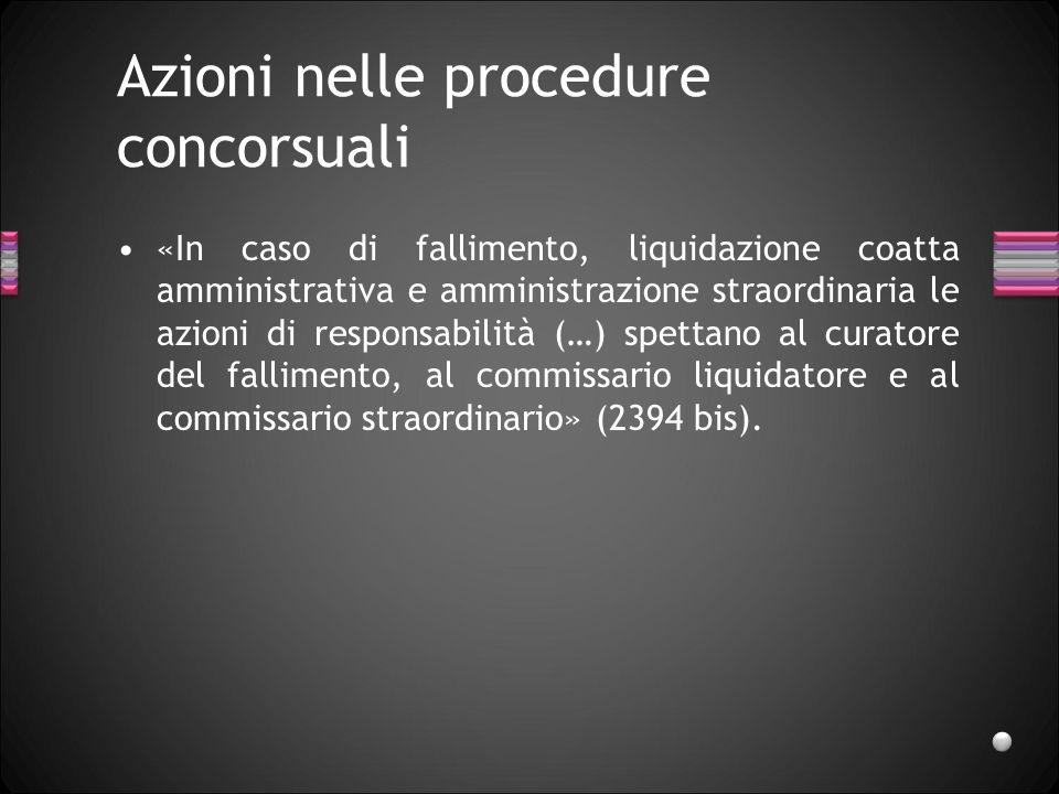 Azioni nelle procedure concorsuali