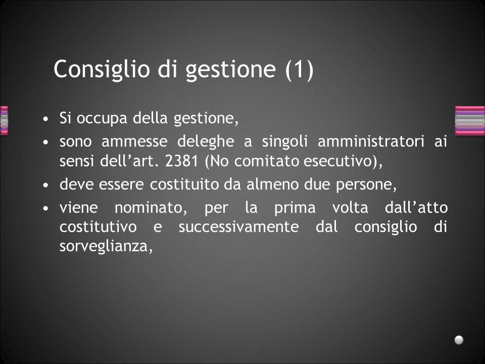 Consiglio di gestione (1)