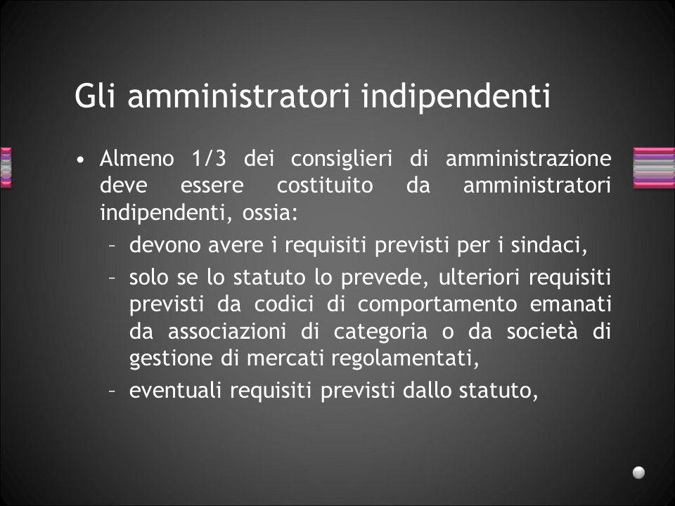Gli amministratori indipendenti