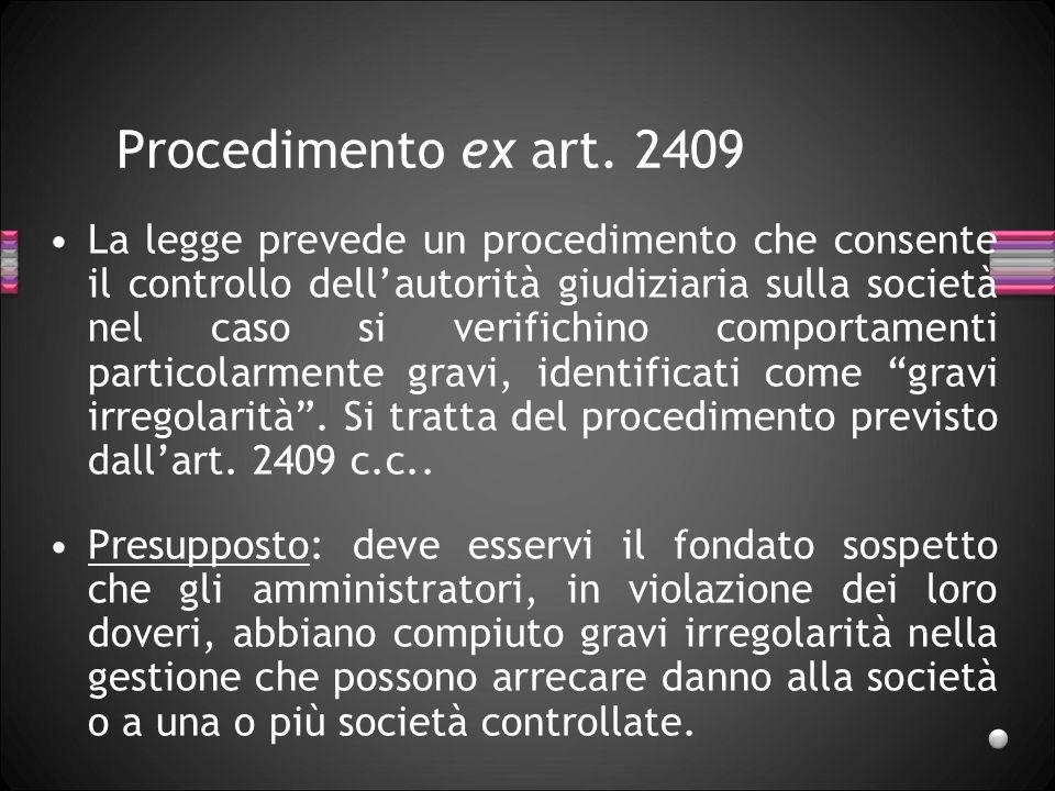 27/03/2017 Procedimento ex art. 2409.