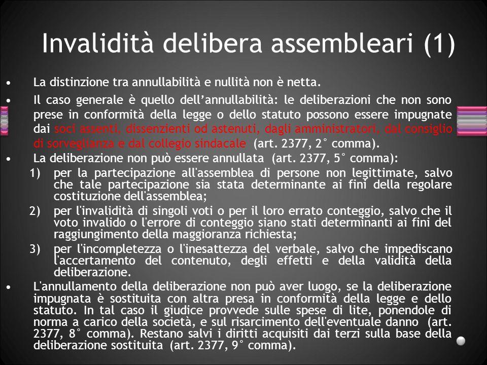 Invalidità delibera assembleari (1)