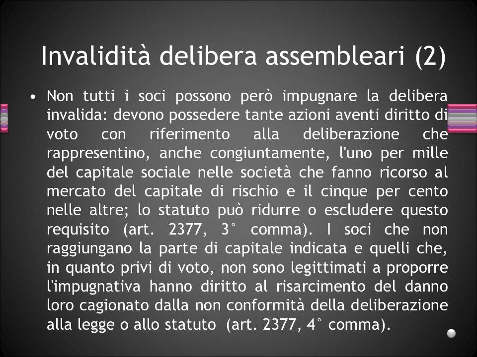 Invalidità delibera assembleari (2)