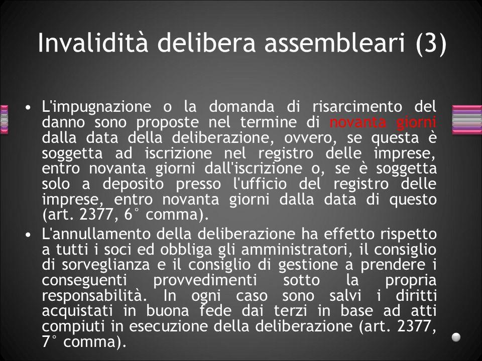 Invalidità delibera assembleari (3)