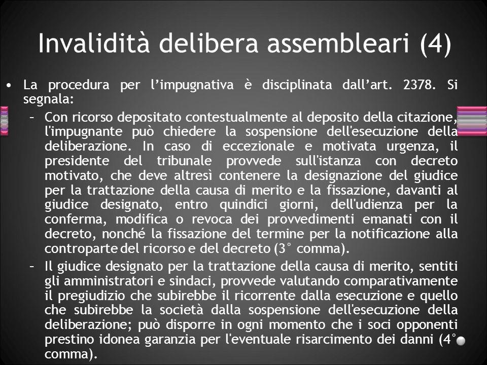 Invalidità delibera assembleari (4)