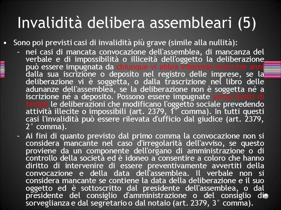 Invalidità delibera assembleari (5)