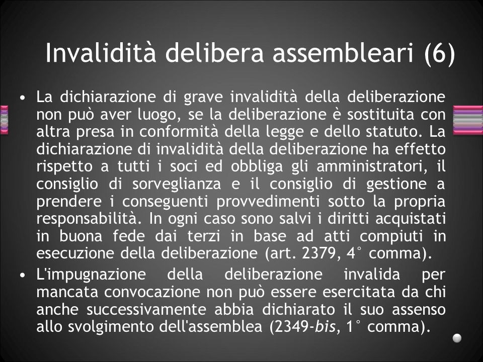 Invalidità delibera assembleari (6)