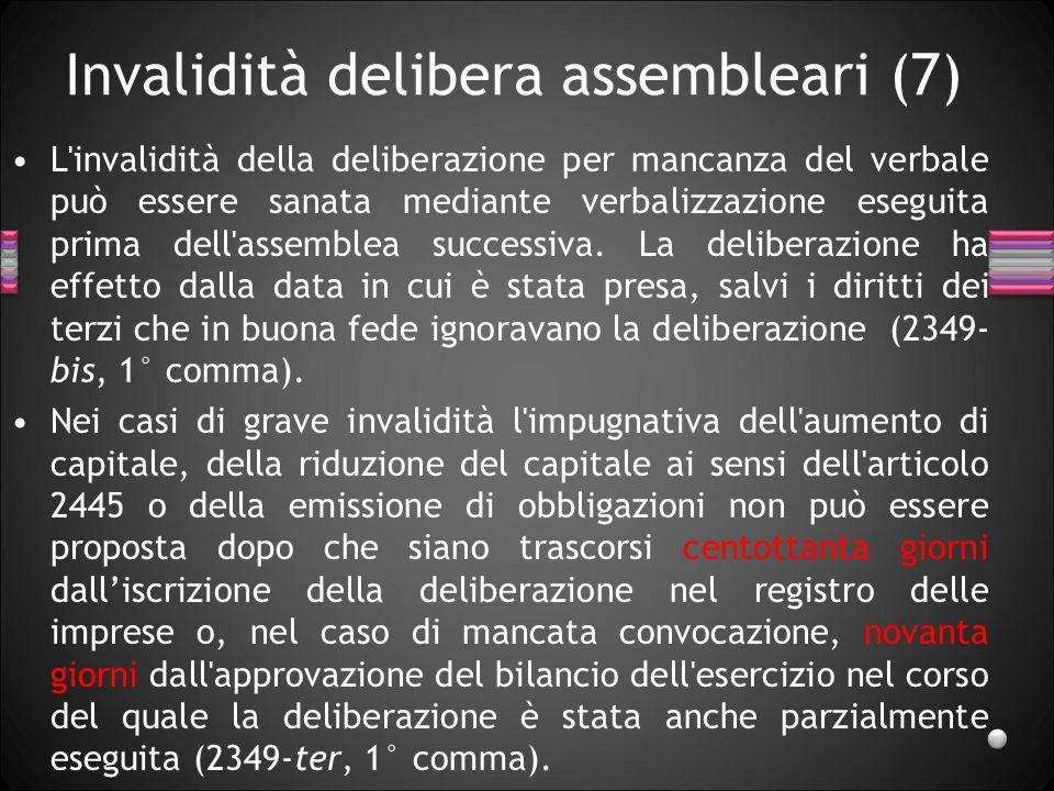 Invalidità delibera assembleari (7)