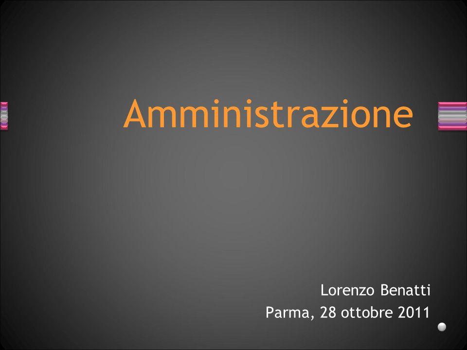 Lorenzo Benatti Parma, 28 ottobre 2011