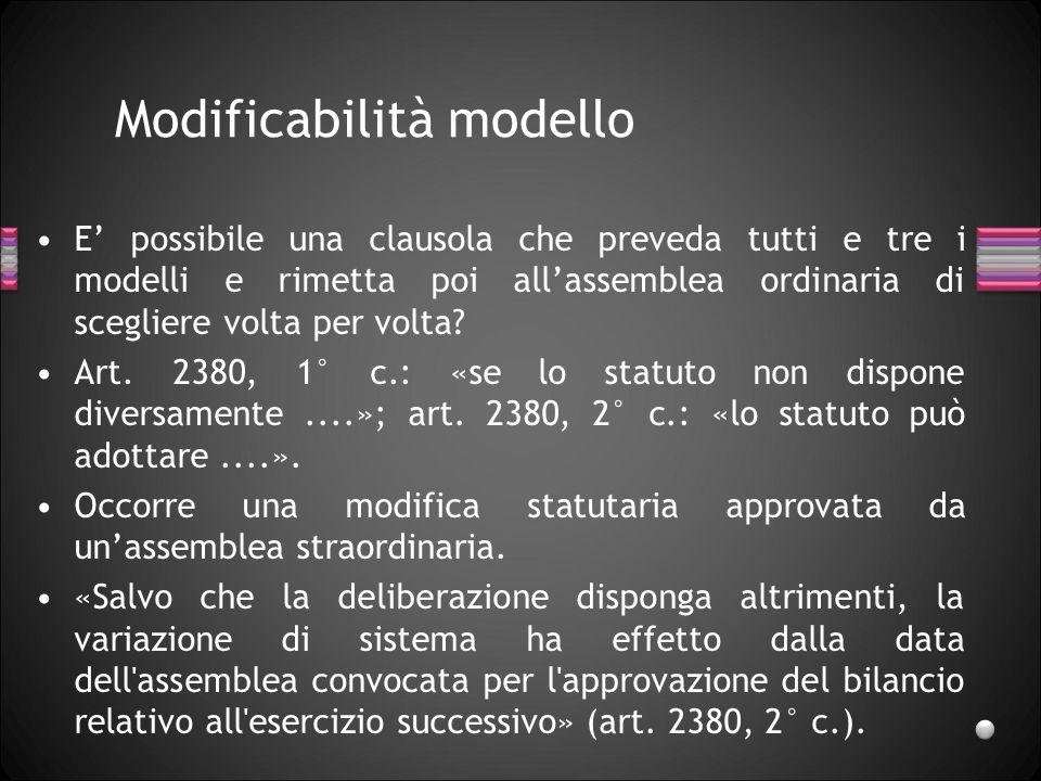 Modificabilità modello