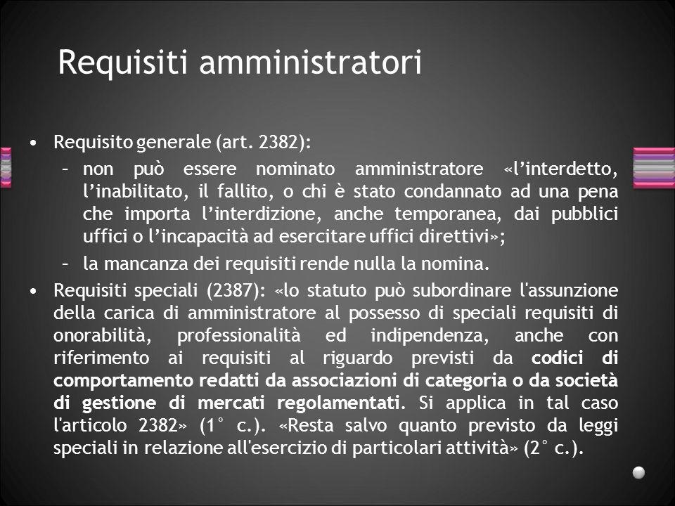Requisiti amministratori