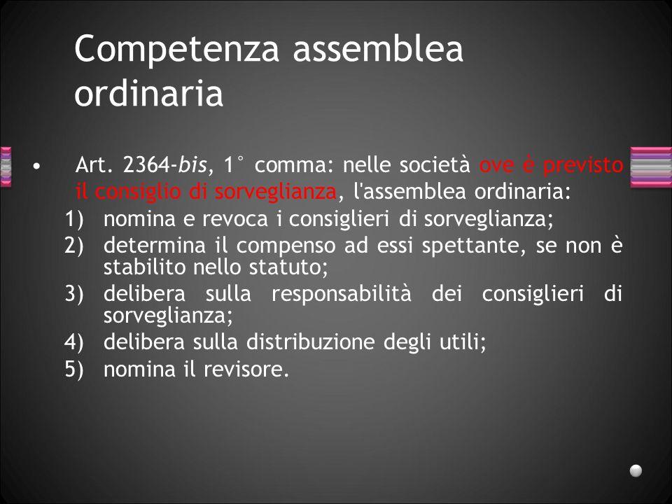 Competenza assemblea ordinaria