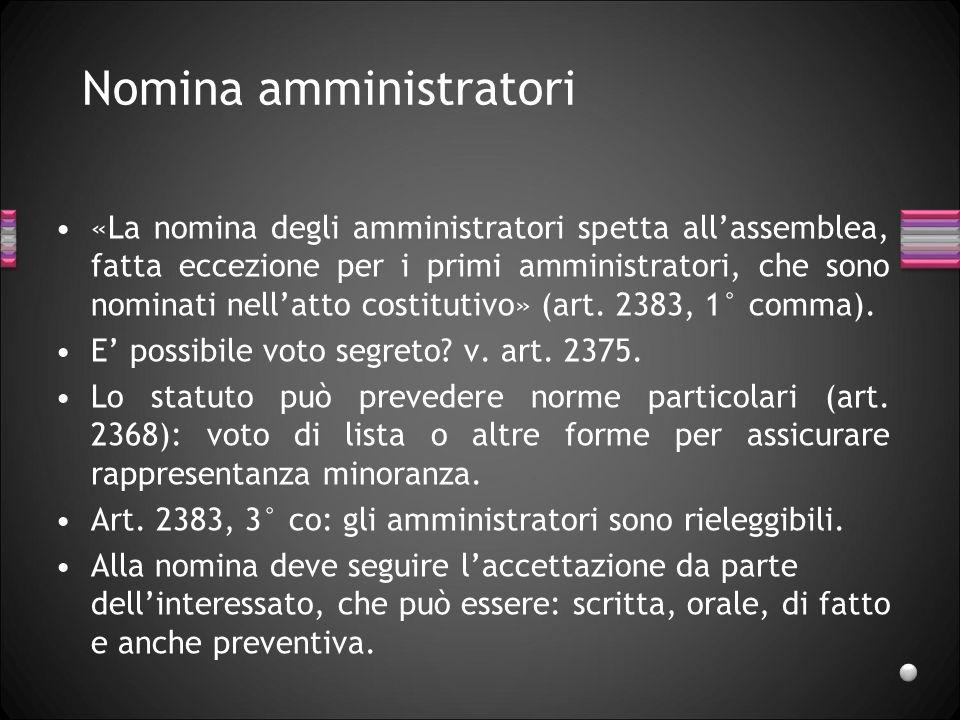 Nomina amministratori