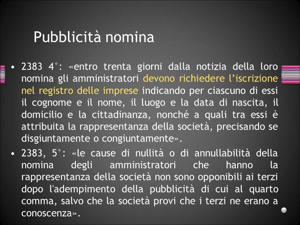 27/03/2017 Pubblicità nomina.