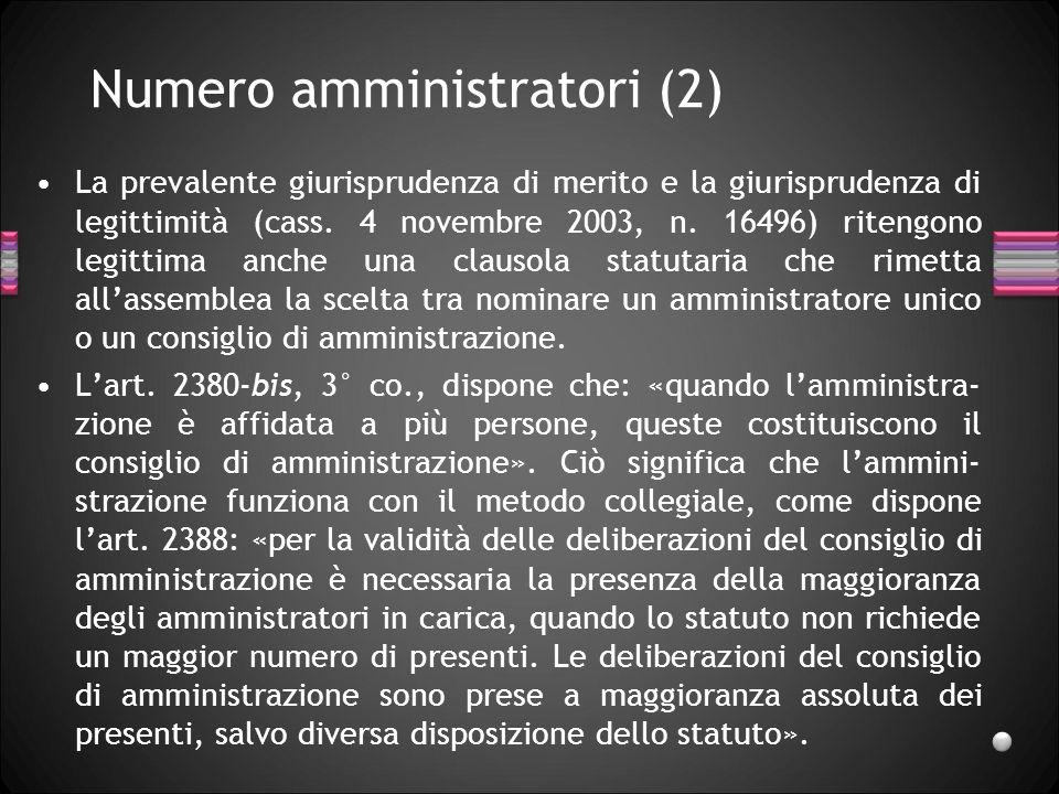 Numero amministratori (2)