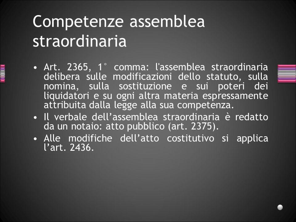 Competenze assemblea straordinaria