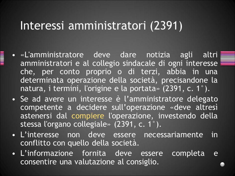 Interessi amministratori (2391)