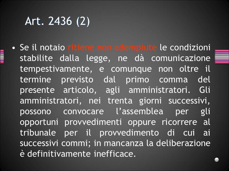 Art. 2436 (2)