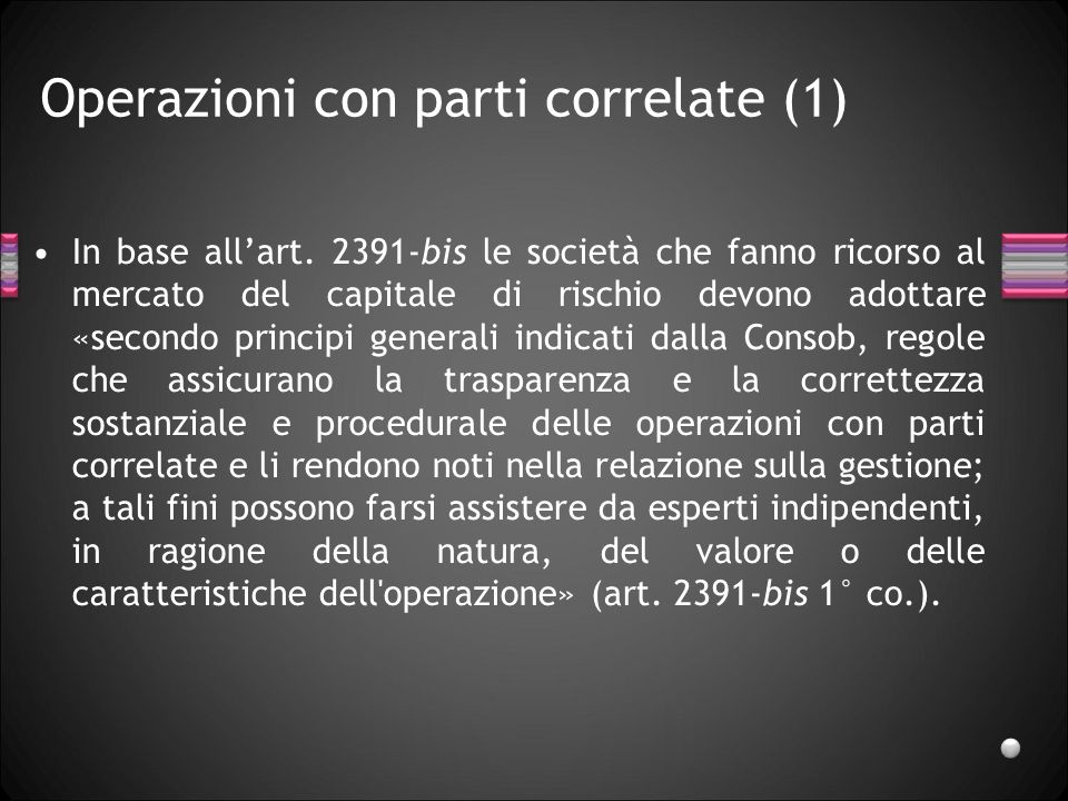 Operazioni con parti correlate (1)