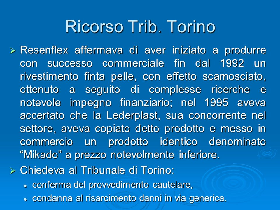 Ricorso Trib. Torino