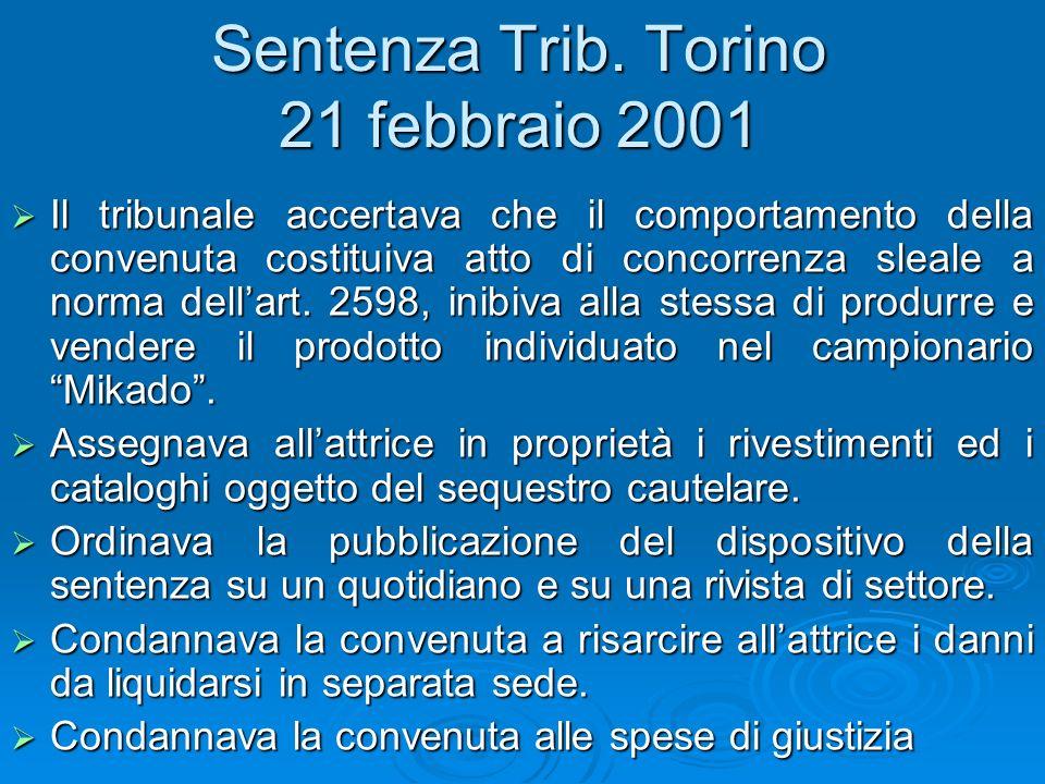 Sentenza Trib. Torino 21 febbraio 2001