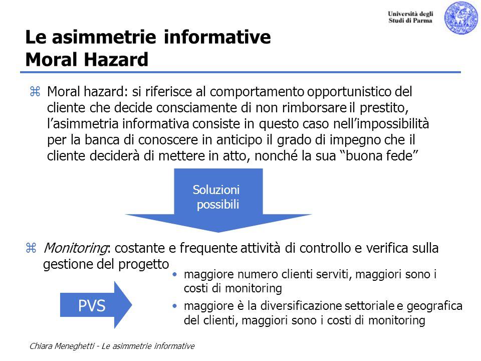 Le asimmetrie informative Moral Hazard