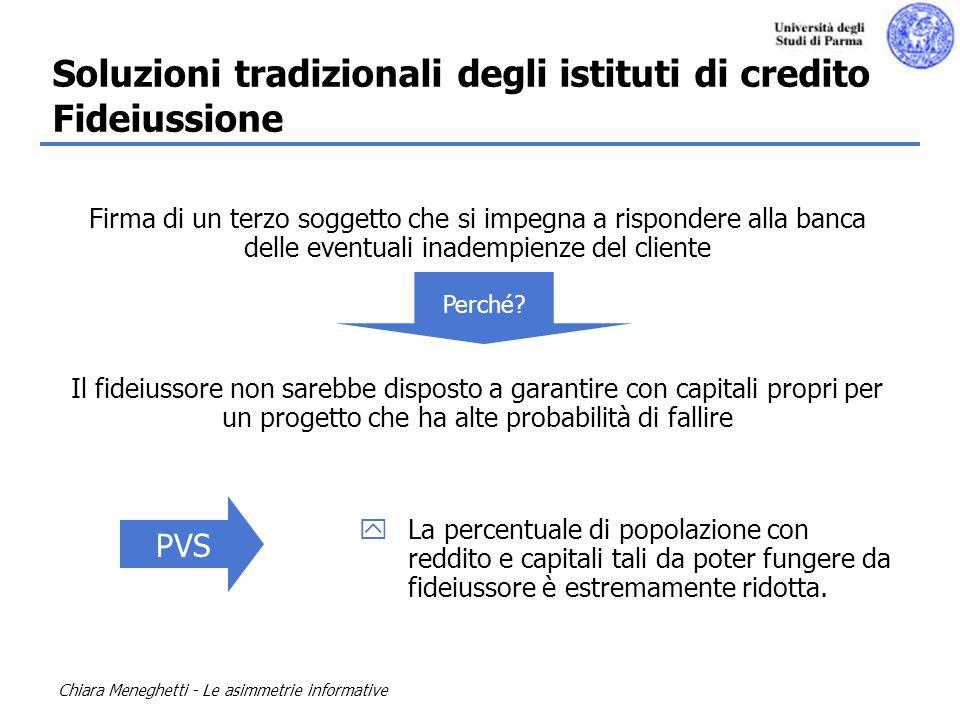 Soluzioni tradizionali degli istituti di credito Fideiussione