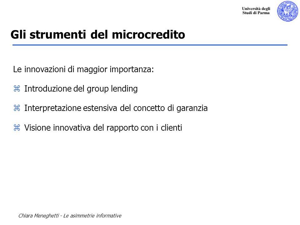 Gli strumenti del microcredito