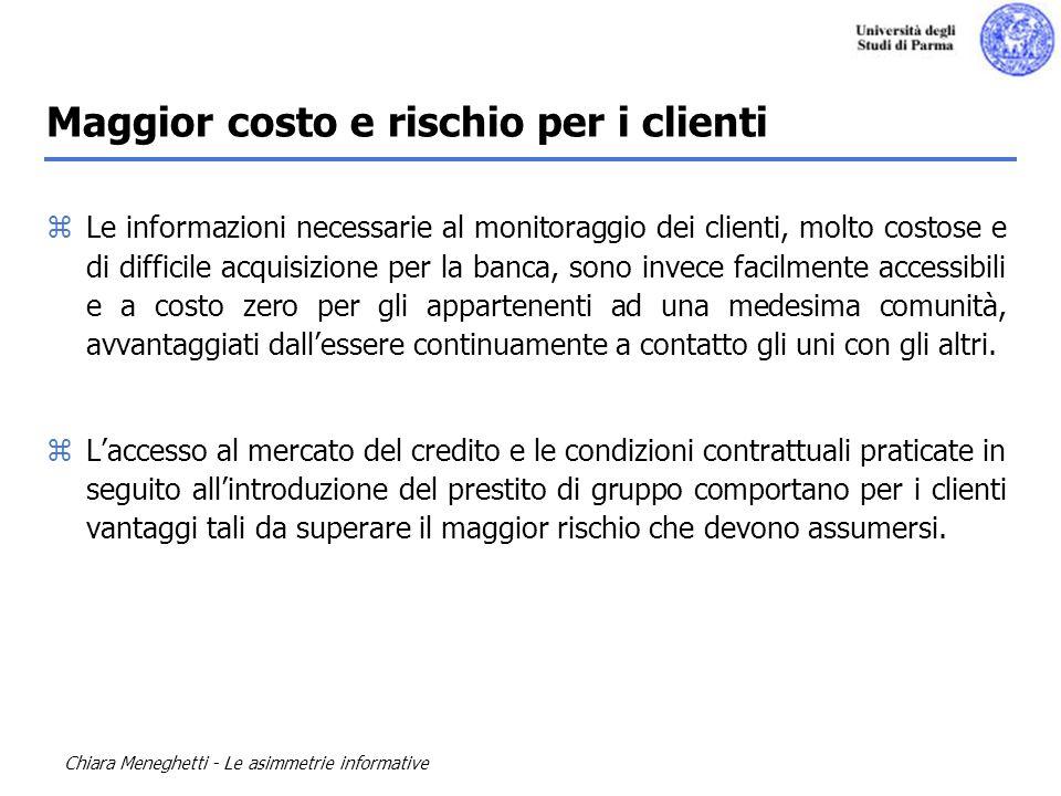 Maggior costo e rischio per i clienti