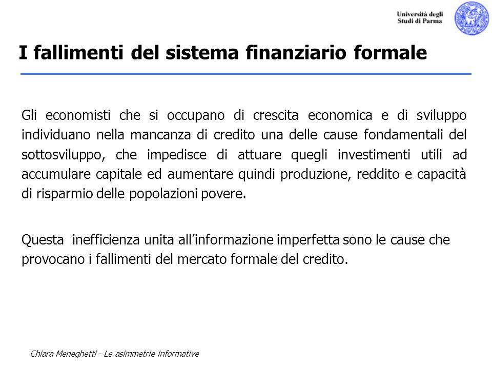 I fallimenti del sistema finanziario formale