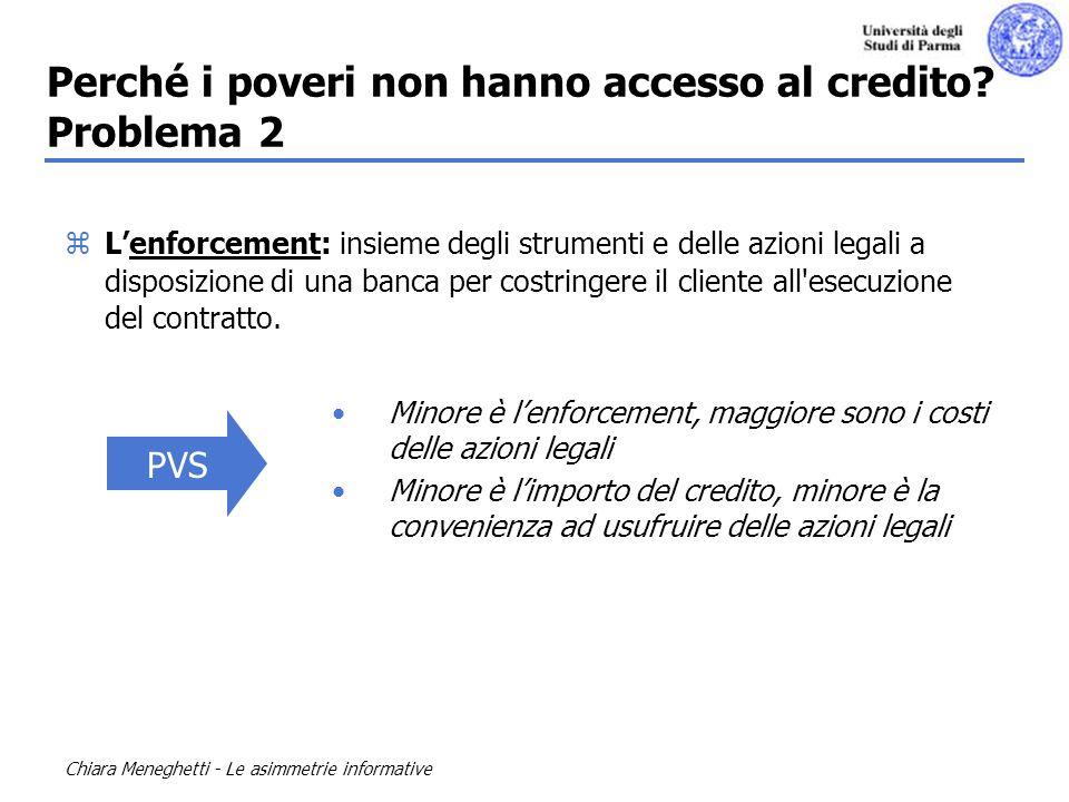 Perché i poveri non hanno accesso al credito Problema 2