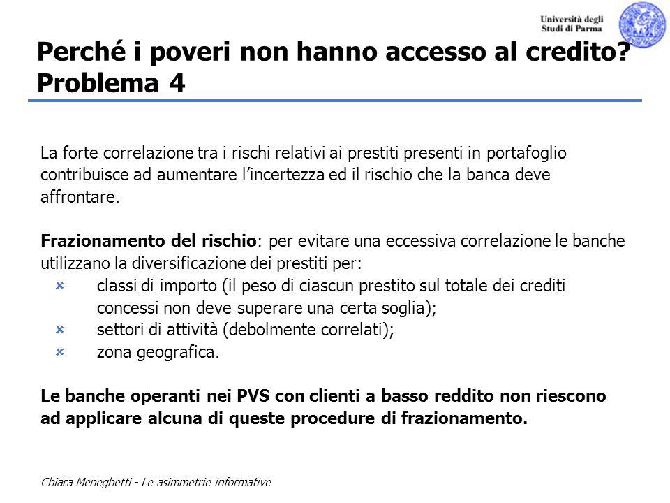 Perché i poveri non hanno accesso al credito Problema 4