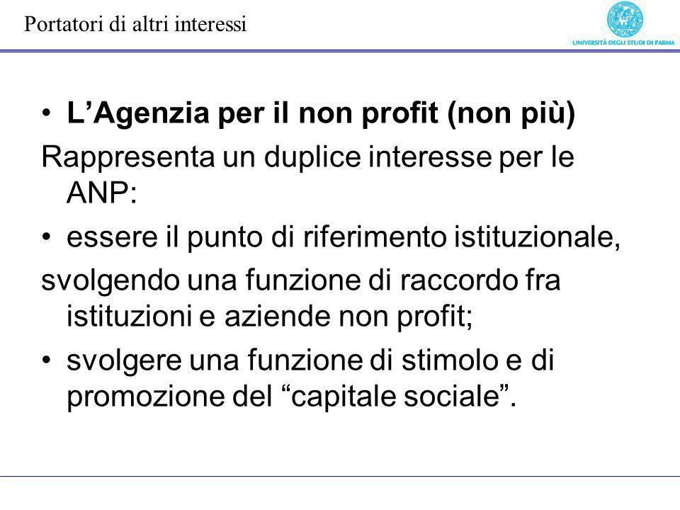 L'Agenzia per il non profit (non più)