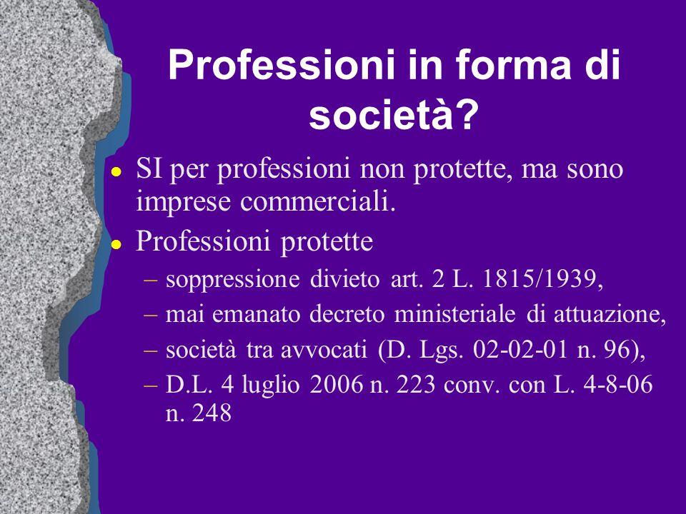 Professioni in forma di società
