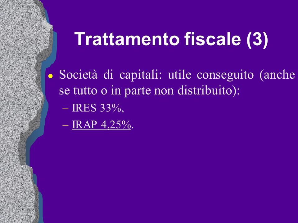 Trattamento fiscale (3)